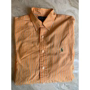 Ralph Lauren Polo orange & green striped shirt